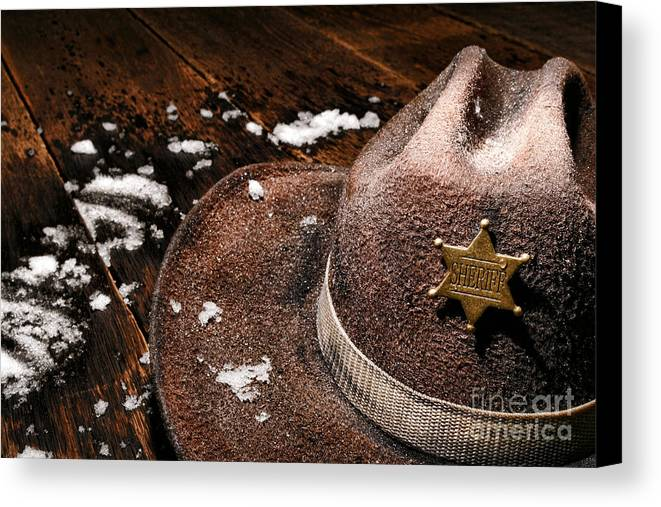 Sheriff Canvas Print featuring the photograph Winter Duty by Olivier Le Queinec