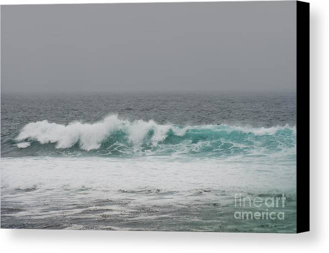Waves Canvas Print featuring the photograph Winter Waves by Artist and Photographer Laura Wrede