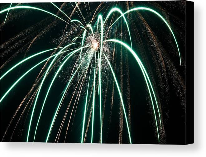 4th Canvas Print featuring the photograph Works Of Fire Iv by Ricky Barnard