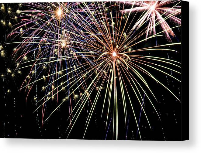 4th Canvas Print featuring the photograph Works Of Fire by Ricky Barnard