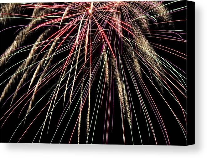 4th Canvas Print featuring the photograph Works Of Fire V by Ricky Barnard