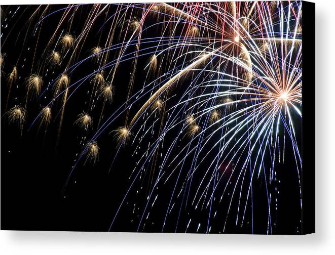 4th Canvas Print featuring the photograph Works Of Fire Vi by Ricky Barnard