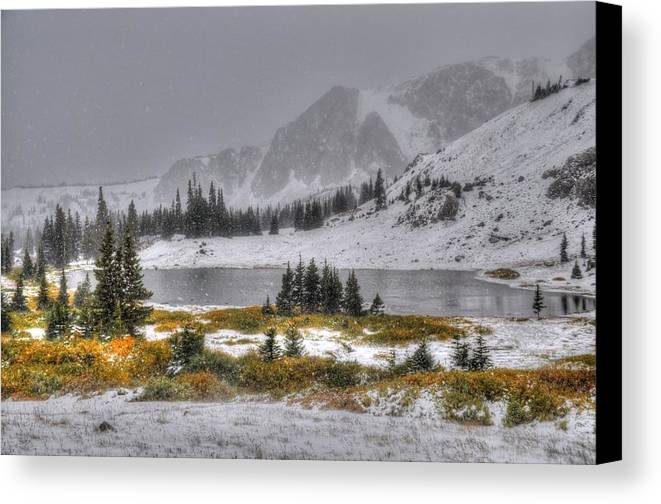 Wyoming Canvas Print featuring the photograph Wyoming's Medicine Bow National Forest by Geraldine Alexander