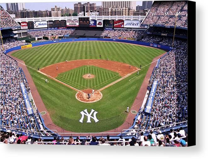 Yankee Stadium Canvas Print featuring the photograph Yankee Stadium by Allen Beatty