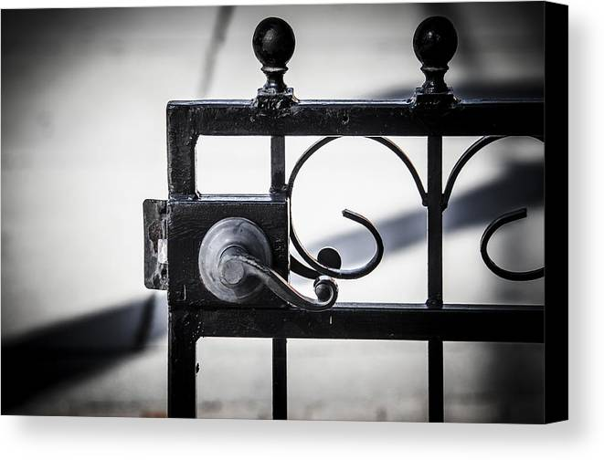 Gate Canvas Print featuring the photograph Ybor City Gate by Carolyn Marshall
