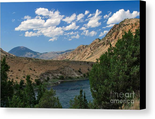 Yellowstone River Canvas Print featuring the photograph Yellowstone River Overlook by Charles Kozierok