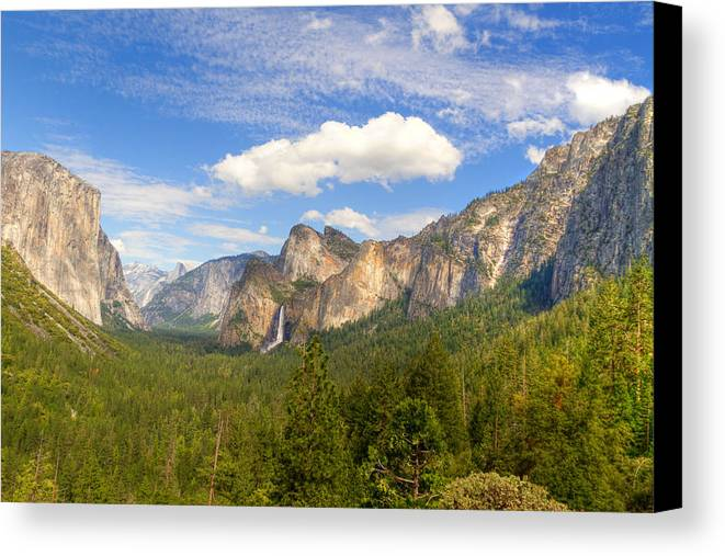 Yosemite Canvas Print featuring the photograph Yosemite Tunnel View by Newman Artography