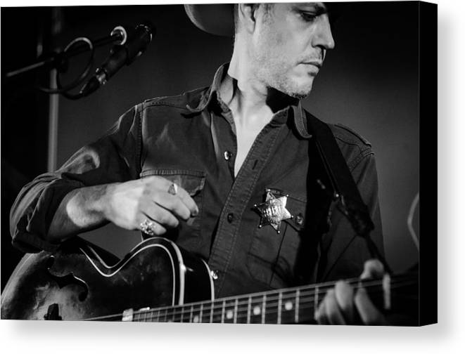 Guitar Photographs Canvas Print featuring the photograph You Can't Be Safe From The Effects Of Love by Andrea Mazzocchetti