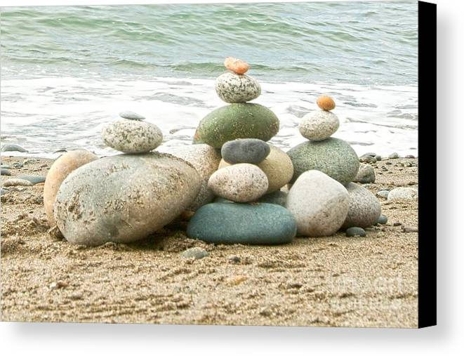 Rocks Canvas Print featuring the photograph Zen Meditation Balance by Artist and Photographer Laura Wrede