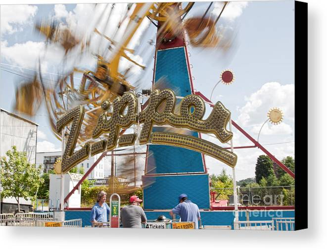 Carnival Canvas Print featuring the photograph Zipper by K Hines