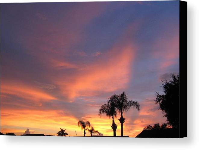 Sunset Canvas Print featuring the photograph 0032 Sunset by Carol McKenzie