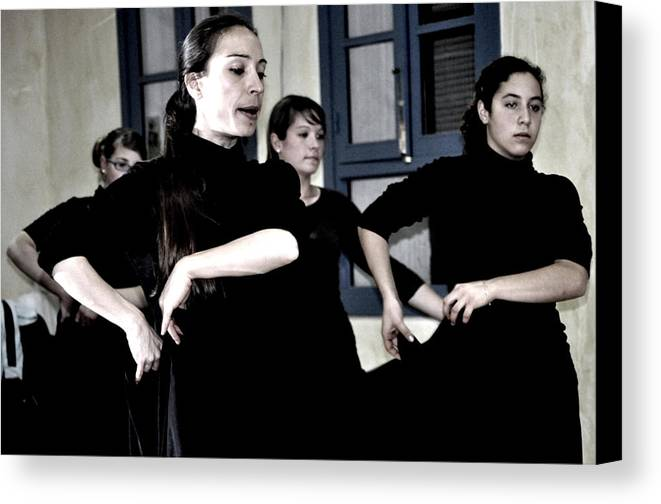 Flamenco Dance Class In Olvera Canvas Print featuring the photograph 026 by Patrick King