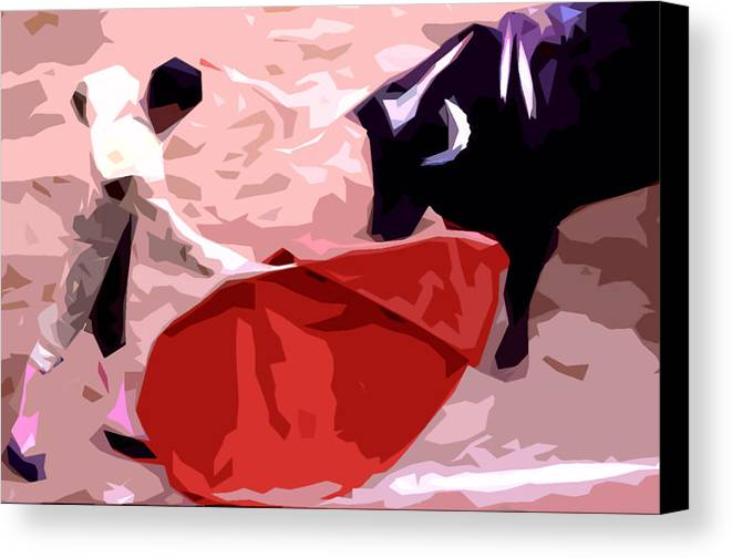 Bullfight - Palma De Mallorca - Abstract Study Canvas Print featuring the photograph 041 by Patrick King