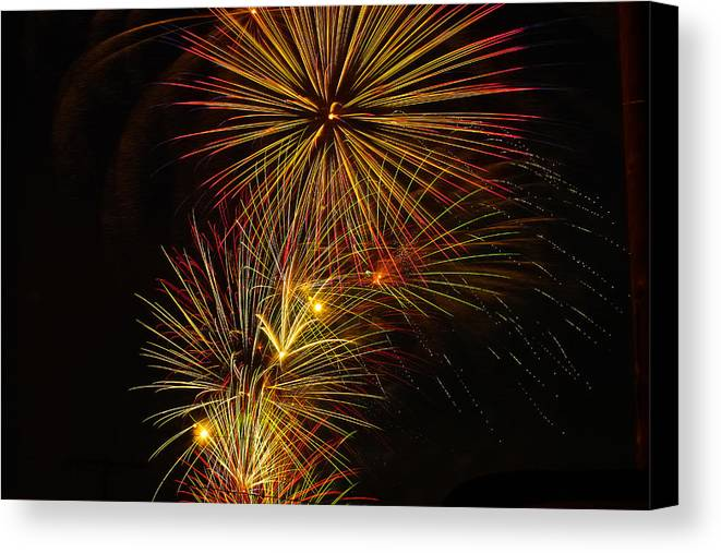 4th Of July Canvas Print featuring the photograph American Pinwheel by Joshua Dwyer