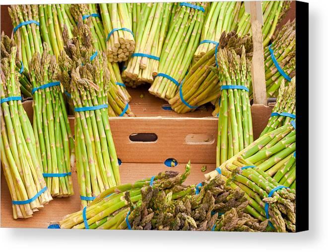 Asparagus Canvas Print featuring the photograph Asparagus by Tom Gowanlock