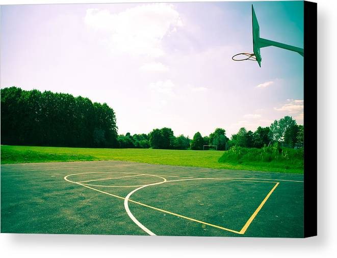 Ball Canvas Print featuring the photograph Basketball Court by Tom Gowanlock