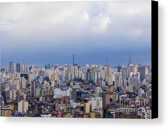 Apartment Canvas Print featuring the photograph Buildings Of Downtown Sao Paulo by Jeremy Woodhouse