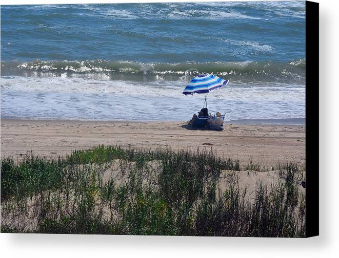 Beach Canvas Print featuring the photograph Day At The Beach by Sandi OReilly
