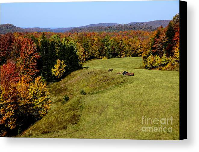 West Virginia Canvas Print featuring the photograph Fall Color Randolph County West Virginia by Thomas R Fletcher
