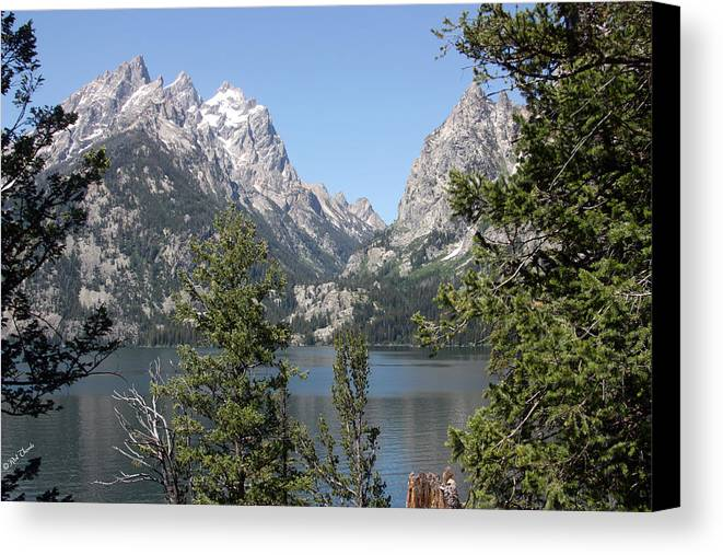 Lake Canvas Print featuring the photograph Jenny Lake by Rick Thiemke