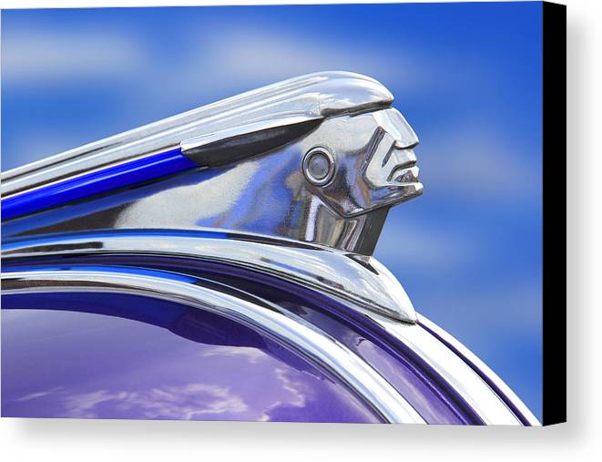 Transportation Canvas Print featuring the photograph Pontiac Hood Ornament by Mike McGlothlen