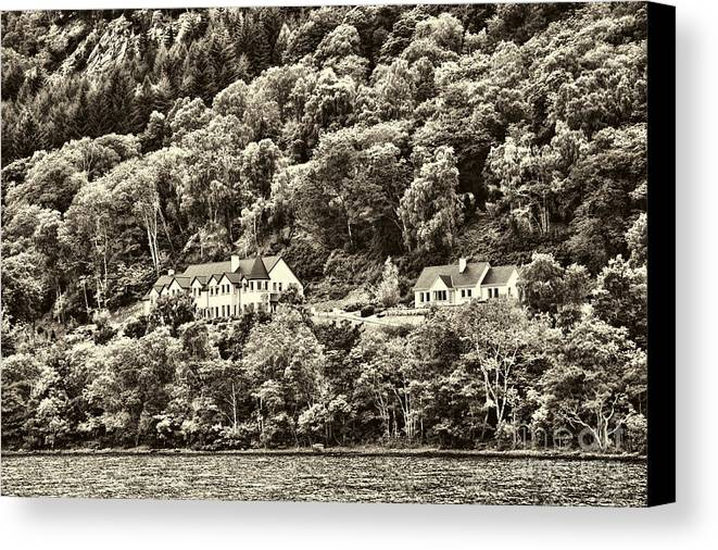 Loch Ness Canvas Print featuring the photograph Scotland Landscape by Chuck Kuhn