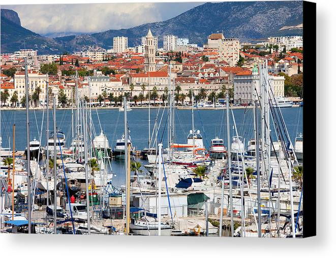 Adriatic Canvas Print featuring the photograph Split Cityscape by Artur Bogacki
