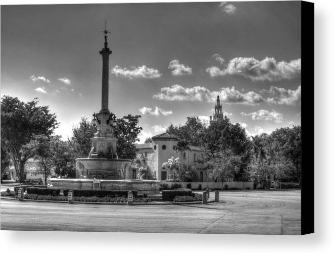 Old Fountain Canvas Print featuring the photograph The Fountain by Armando Perez
