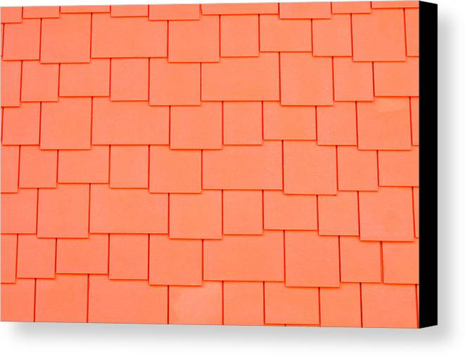 Architecture Canvas Print featuring the photograph Tiles by Tom Gowanlock