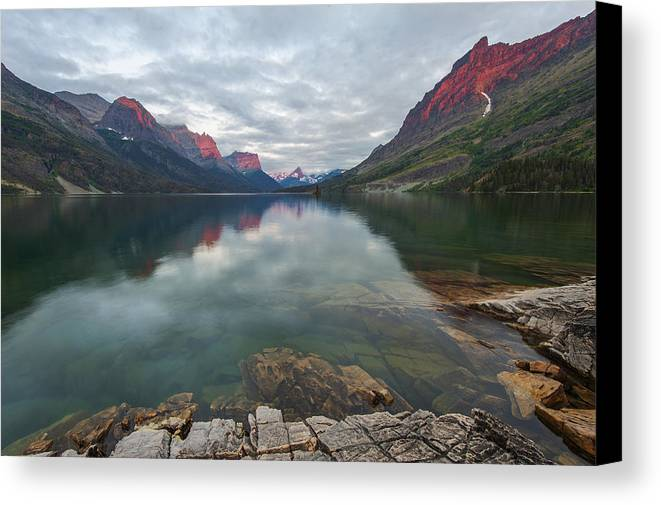 Wild Goose Island Canvas Print featuring the photograph Volcanic Lava Glow by Yin Lau