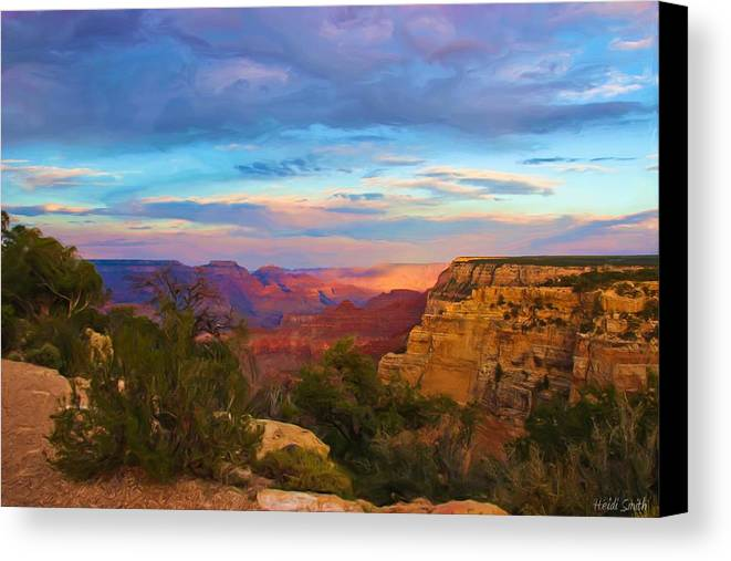 Grand Canyon Canvas Print featuring the photograph You Draw Me In by Heidi Smith