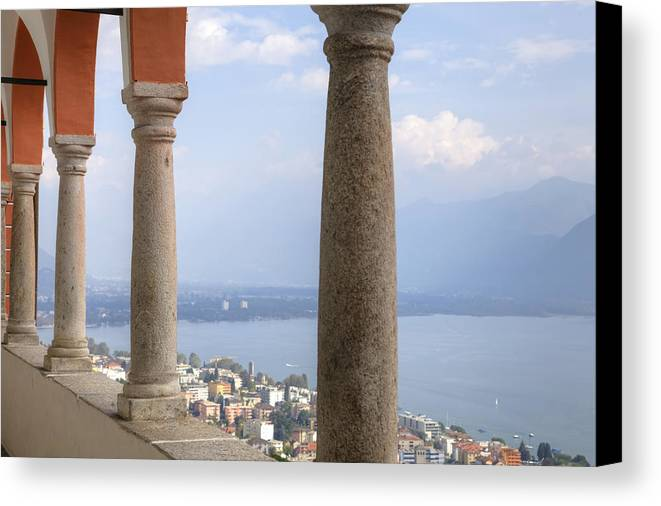 Locarno Canvas Print featuring the photograph Madonna Del Sasso - Locarno by Joana Kruse