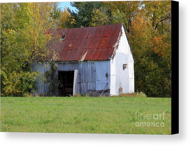 Barn Canvas Print featuring the photograph Barn by Sophie Vigneault