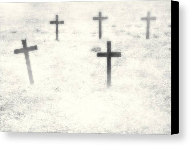 Cemetery Canvas Print featuring the photograph Cemetery by Joana Kruse