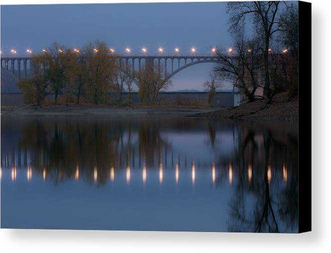 Bridge Canvas Print featuring the photograph Ford Parkway Bridge by Tom Gort