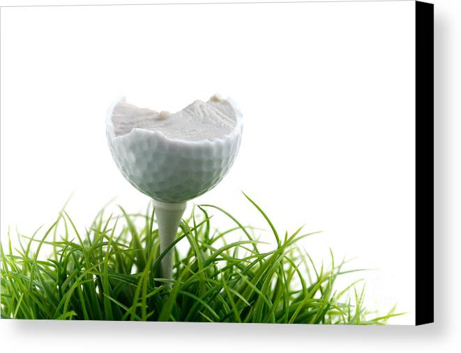 Activity Canvas Print featuring the photograph Golfball by Kati Finell