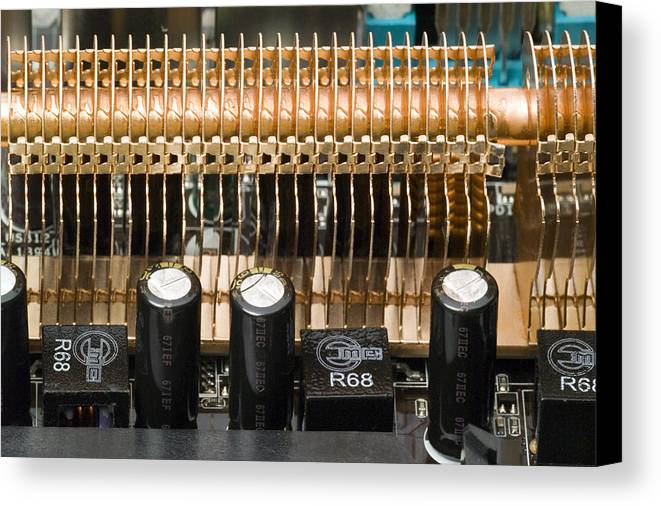 Device Canvas Print featuring the photograph Heat Sink by Paul Rapson