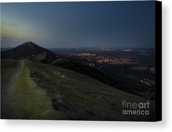 Canvas Print featuring the photograph Malvern Hills by Angel Ciesniarska