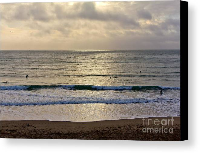 Praa Sands Cornwall Canvas Print featuring the photograph Praa Sands by Brian Roscorla