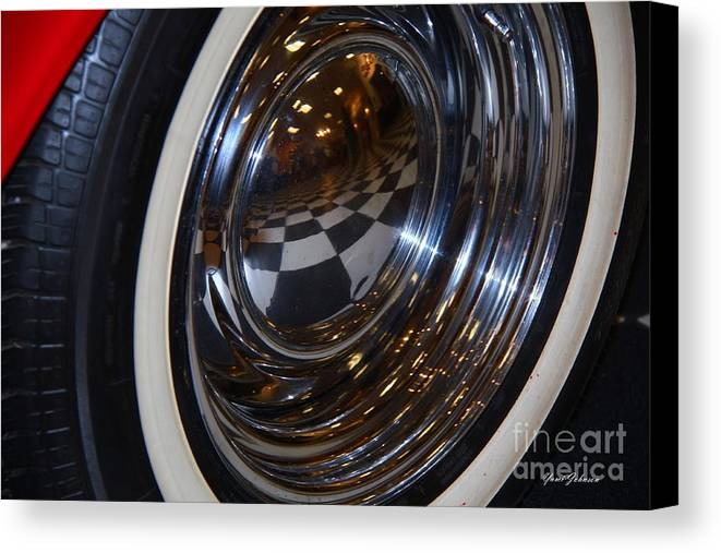 Checker Canvas Print featuring the photograph Reflection by Yumi Johnson