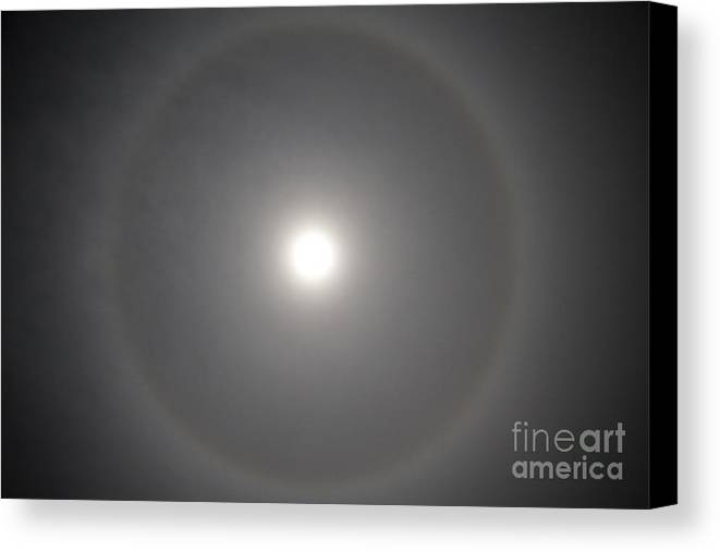 22° Halo Canvas Print featuring the photograph 22 Halo by Nicholas Caputo