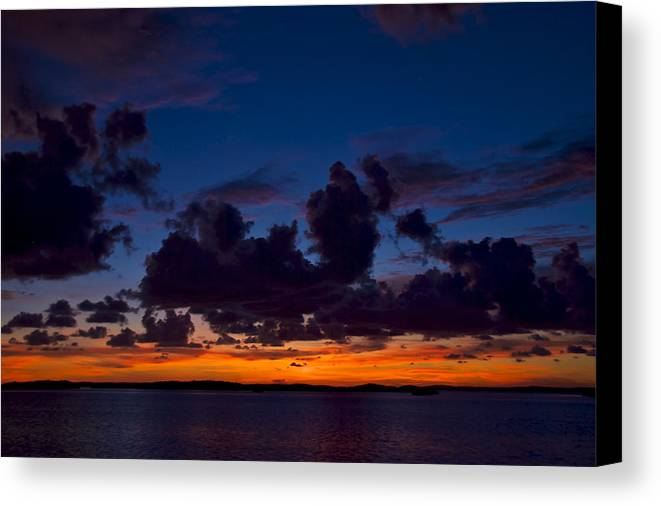 Florida Canvas Print featuring the photograph Islamorada Sunset by Mike Horvath