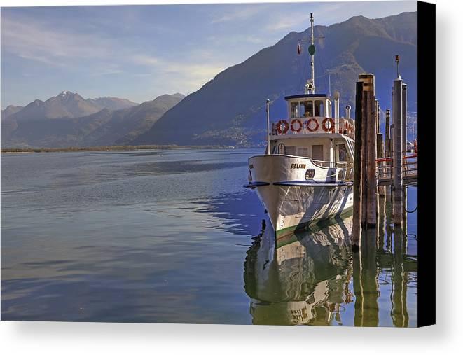 Lake Maggiore Canvas Print featuring the photograph Locarno by Joana Kruse