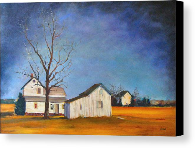 Farm Canvas Print featuring the painting The Last Farm by Robert Henne