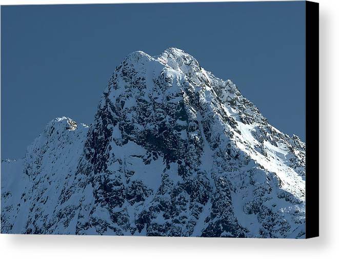 Mountains Canvas Print featuring the photograph Tatra Mountains Winter Scenery by Waldek Dabrowski