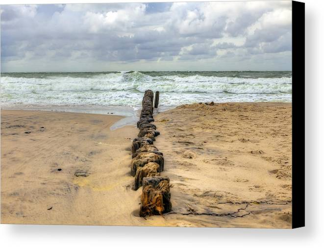 Groyne Canvas Print featuring the photograph Kampen - Sylt by Joana Kruse