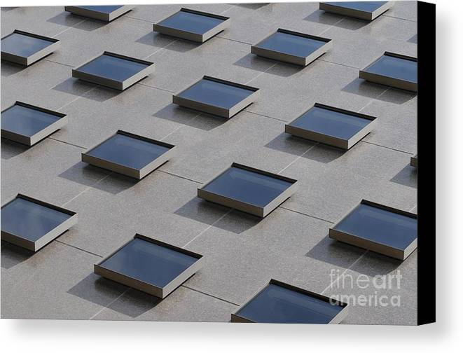 Abstract Canvas Print featuring the photograph A Building Askew by Dan Holm