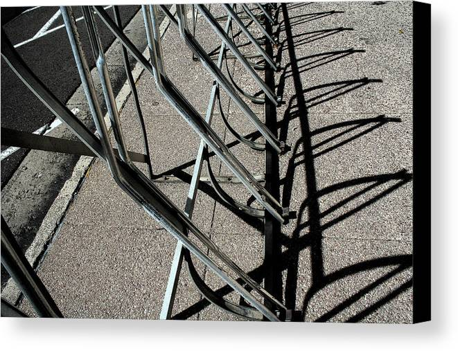 Abstract Canvas Print featuring the photograph A Rack Of Shadows by Ric Bascobert