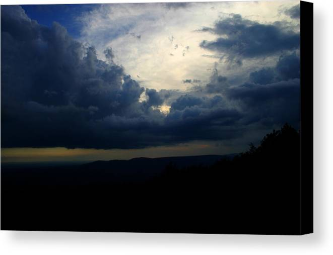 Storm Canvas Print featuring the photograph Above The Storm by Nina Fosdick