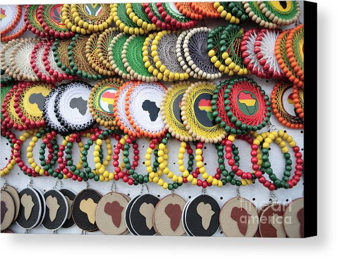 Africa Canvas Print featuring the photograph African Beaded Earrings by Neil Overy